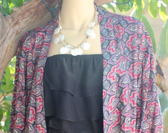 Soft Paisley Kimono, Free Size Kimono, Boho Kimono, Paisley Kimono