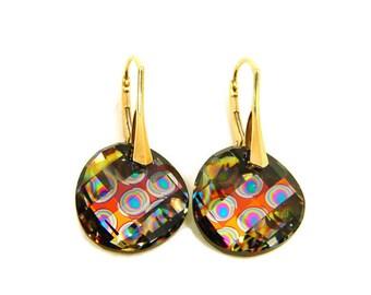 Peacock Earrings, Blue Green Earrings, Feather Earrings, Boho Earrings, Twist Earrings, Drop Earrings, Ethnic Earrings,