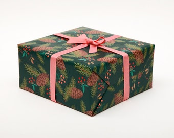 Pine Christmas Wrapping Paper - Holidays
