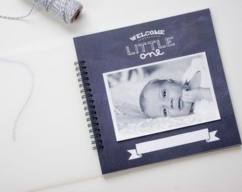 Gender Neutral Baby Book. Black and White Baby Book. Simple Baby Book. Baby Memory Book. Modern Baby Book. Baby Shower Gifts. Gift for Mom.