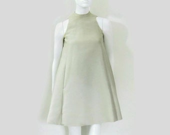 Geoffrey Beene Space Age Silver A Line Dress Iconic Fashion from the 1960's