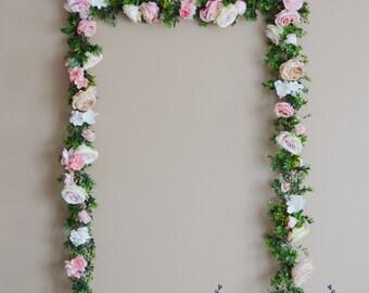Wedding Garland Floral Garland Flowers Pink Garland Silk