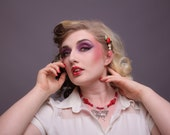 Flutter-by-Dreamer Elegant Butterfly pendant necklace in three colour choices- Pin-up Collection
