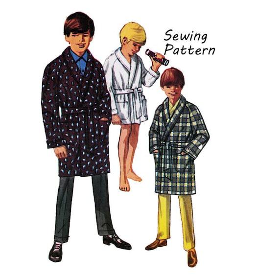 Simplicity 8471 Teen Boy\'s Shawl Collar Wrap Robe Sewing Pattern ...