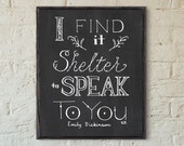 SALE // Mistake Print // Shelter // Art Print // Friendship Artwork // Love Quote // Safe Friendship Quote // Shelter Typography