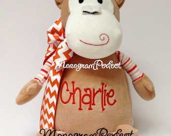 Personalized Plush Monkey Stuffed Animal