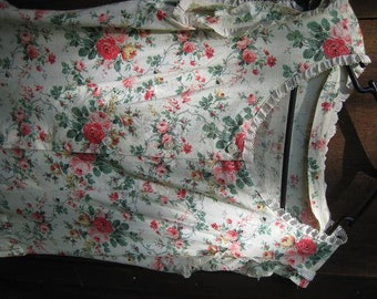 Gorgeous Vintage Handmade Summer Dress Rose Garden Size 8