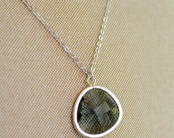 The Reanne Necklace -  Grey/Silver