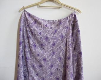 Vintage Jones Wear Abstract Geometric Pattern Feminine Purple Skirt