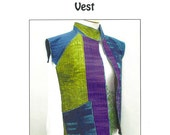 Color Play Vest Pattern Size S-XL DIY Design by Jean Wells Clothing Sewing