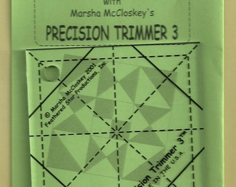 Precision Trimmer 3, Acrylic Ruler, Sewing, Crafting, DIY, Marsha McCloskey Quilt Quilting