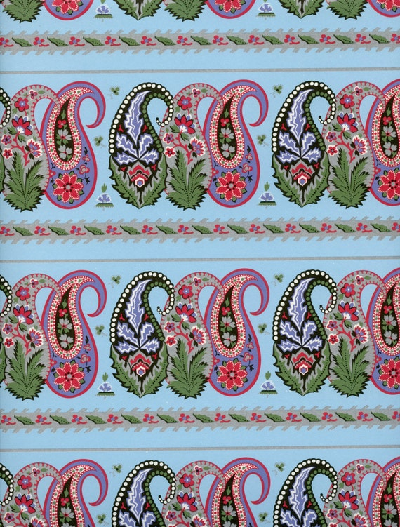 Paisley print decorative paper wrapping