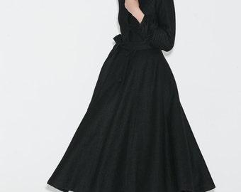 Black hooded jacket | Etsy