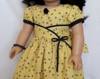 Buzzing Bees Doll Dress Handmade for 18 inch Dolls by Kizzie Creations
