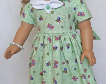 Handmade Doll Couture Dress for 18 inch Dolls by Kizzie Creations