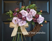 spring wreath purple lavender front door wreaths gifts decor outdoor wreaths purple wedding