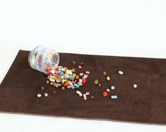 Vellux Bead Mat- 22 x 14 inches Jewelry Work Surface in Chocolate Brown