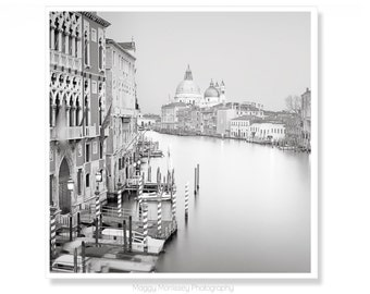 Venice Photography, Office Wall Art, Italy Photography, Travel Photography  Minimalist Art, Black and White Wall Art, Office Decor