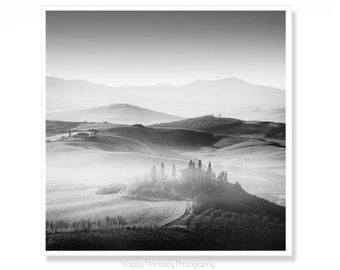 Tuscany, Black & White Photography, Travel, Birthday Gift, Classic Tuscany, Tuscan Decor, Tuscan Art, Paradiso