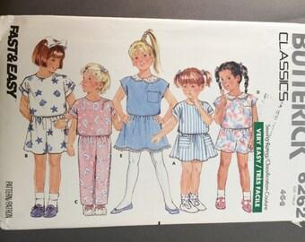 Butterick Classics 6262 VTG Toddler/Child Fast & Very Easy Top Skirt Shorts Pants Pattern sz 4-5-6 UNCUT/UNUSED 1988 Versatille Pattern