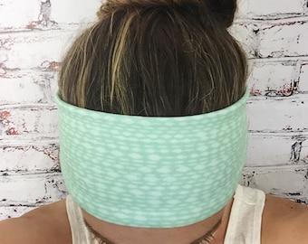 Yoga Headband - Mottled Mint - Eco Friendly