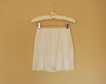 White Mini Half Slip -1980s