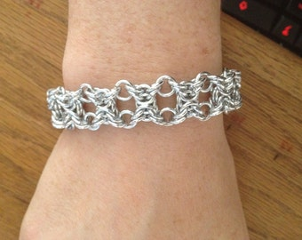 Hand made chain mail bracelet