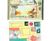 Colorful Surprise Envelope Art, Pre-stamped Snail Mail envelope, pen pal fun. Great gift for mail art fan, geek girl, teen or tween, mother