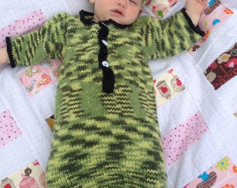 Knit Baby Sleep Sack, Green, 6-12 months