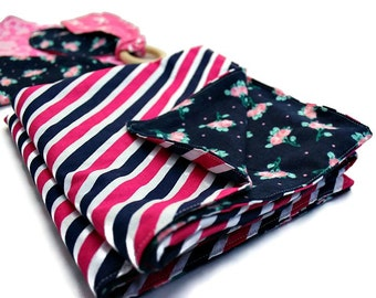 Baby gift set - navy and pink