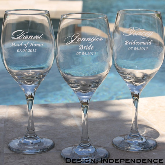 Items Similar To 12 Bridesmaids Gift Champagne Glasses