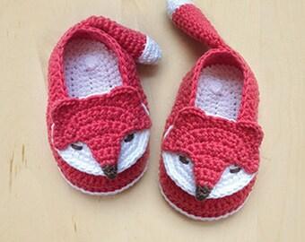 Crochet Baby Pattern - Fox Baby Booties Fox Baby Socks Fox Applique Foxy Baby Sneaker Crochet Pattern Foxy Baby Shoes Foxy Booties Foxie