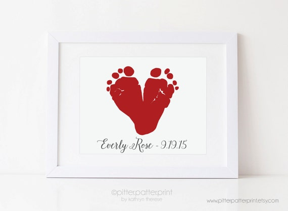 Baby's First Christmas Gift For New Dad Grandparents Red