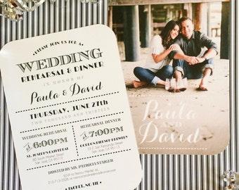 Photo Invitation - Engagement, Rehearsal Dinner, Wedding