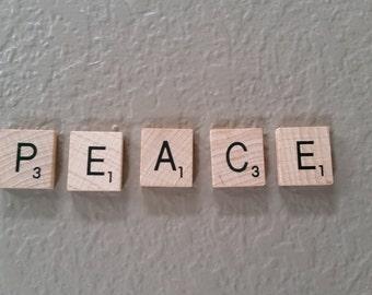 """Scrabble Tiles - """"PEACE"""""""