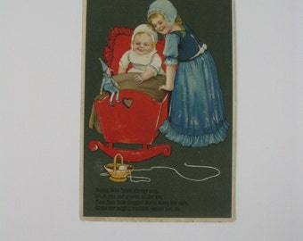 Vintage Post Card - Sunny Little Faces Always Gay - Published by PFB Series 6229 - Used - 1910s