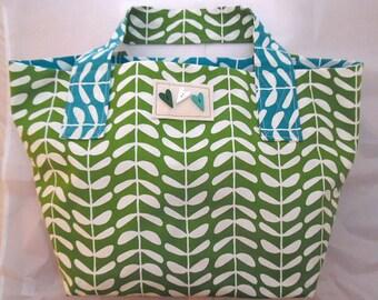 Large Organic Canvas Shopping Bag