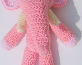 Pink Elephant in the Room - handmade crochet, made to order