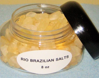Brazilian Bath Salts- Scented- Coarse Bath Salts.