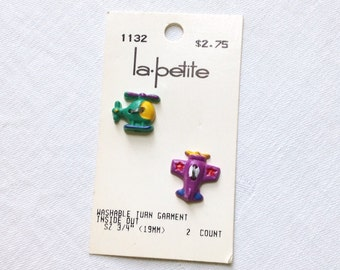 2 Buttons Helicopter Airplane La Petite 19 MM