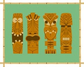 My Collection of Tikis - Limited Edition Giclee Print