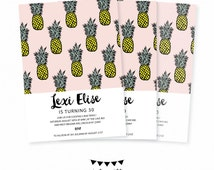 Pineapple Invitation. Adult Birthday Party Invitation. Southern Pineapple Pop Art Invite. Pineapple Theme Party. Pineapple Party Decor