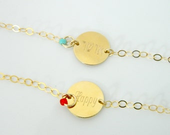 Positive thinking Bracelet, Love, joy, happiness