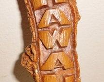 Vintage Hawaii Letter Opener Tiki Bar 1960's MARKED Coco Joes Hawaii
