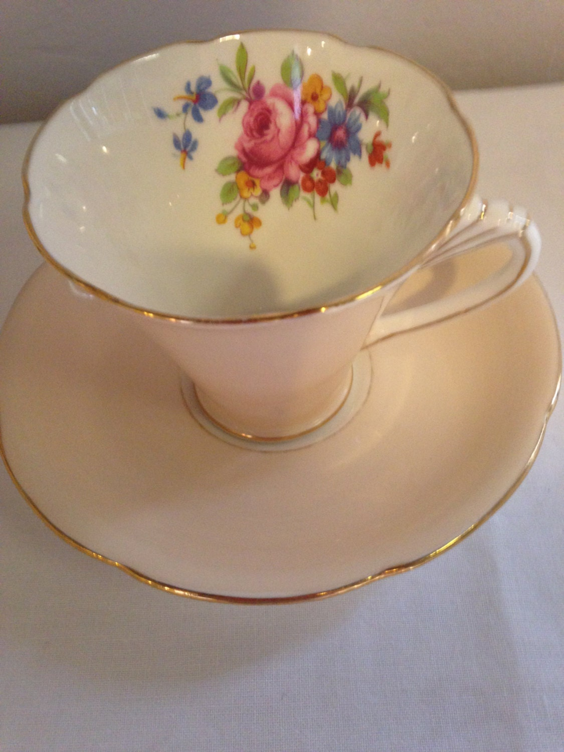 grafton china made in england 1930s tea cup and saucer. Black Bedroom Furniture Sets. Home Design Ideas