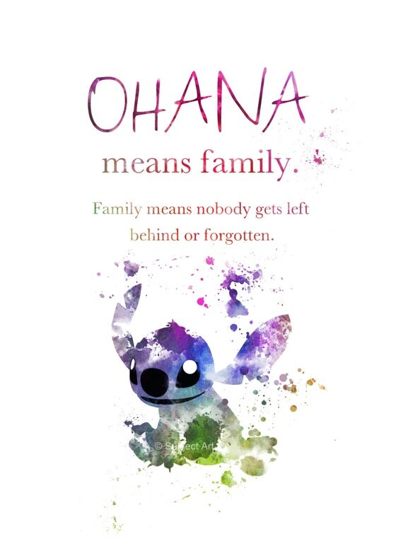 stitch ohana quote wallpaper - photo #5