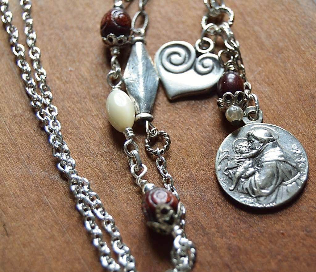 Religious Charm Bracelets: Catholic Religious Jewelry Saint Anthony Medal Necklace