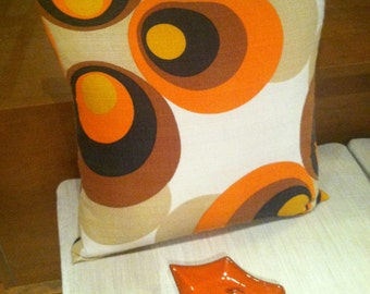 SOLD Vintage Mod 1960's Op Art Fabric Accent Pillow