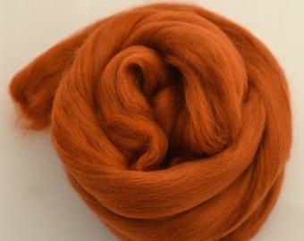 RUST - Merino Wool Roving 1/4oz,  1/2oz or 1oz
