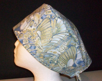 Surgical cap, MADE TO ORDER tie back d